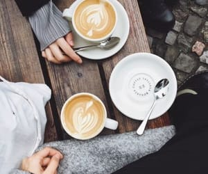 date, girls, and latte image