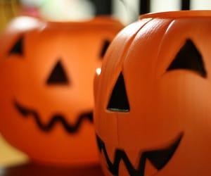 Halloween, pumpkin, and jack-o'-lantern image