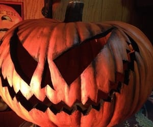 creepy, Halloween, and pumpkin image