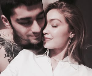 gigi hadid, zayn malik, and love image