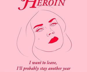 cherry, desire, and heroin image