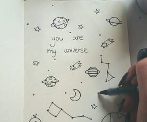 universe, drawing, and notebook image