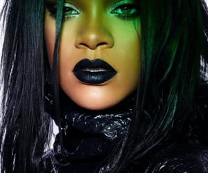 rihanna, black, and beauty image