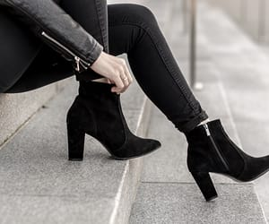 ankle boots, boots, and suede boots image