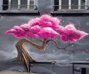 art, pink, and sakura image