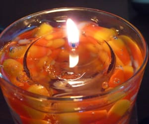 candle, flame, and Halloween image