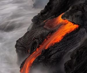 volcano, lava, and nature image