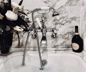 bath, champagne, and home image