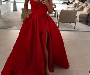 beautiful, red, and dress image