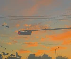 aesthetic, blue, and orange image