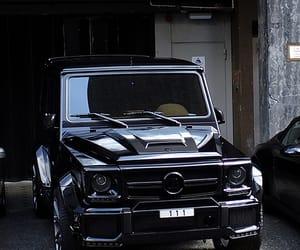 car, black, and mercedes image