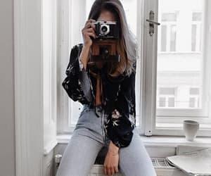 fashion, camera, and girl image