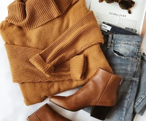 sweater, autumn, and fashion image