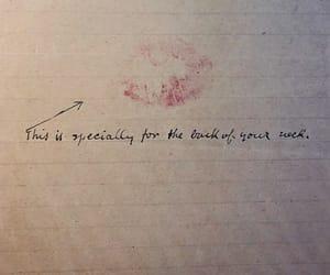 art, lipstick stain, and romance image