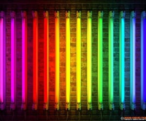 colors, neon, and rainbow image
