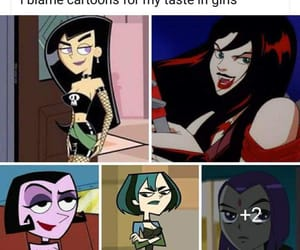 cartoon, cartoon characters, and gothic image
