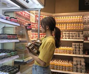 girl, food, and ulzzang image