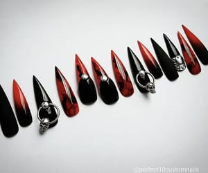 dark, Halloween, and nails image