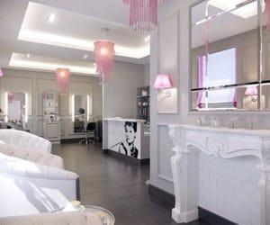 design, pink, and salon image