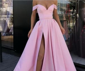 pink dresses, formal dress, and Prom image