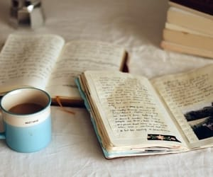coffee, scrapbook, and ink image