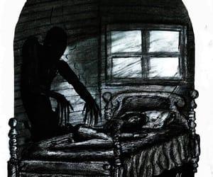 art, creepy, and drawing image