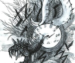 art, drawing, and monster image