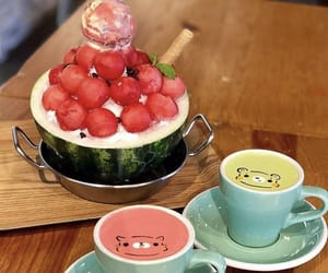 latte and watermelon image