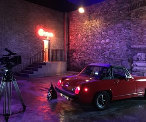 car, movie, and neon image