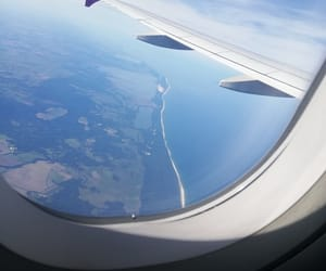 air, plane, and denmark image