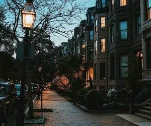 city, autumn, and night image