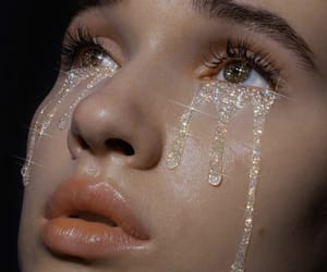 girl, aesthetic, and tears image