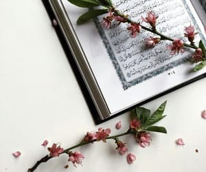 flowers, islam, and book image