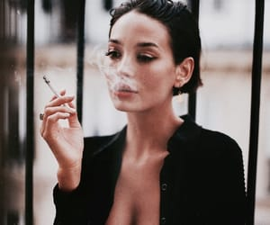 cigarette and woman image
