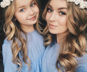 blonde, blue, and daughter image