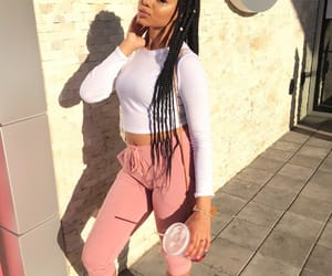 beautiful, long sleeve, and box braids image