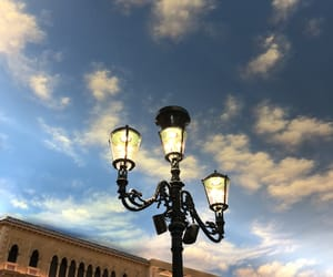 clouds, lamp, and night life image