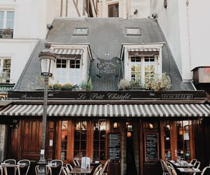 architecture, buildings, and cafe image