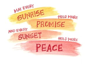 may, sunset, and peace image