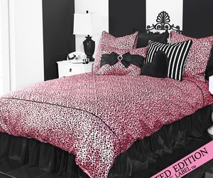 bedroom, black, and girly image
