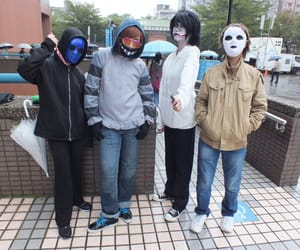 cosplay, marble hornets, and creepypasta image