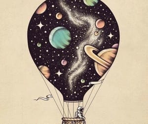 art, space, and astronaut image