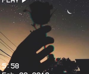 aesthetic, rose, and moon image