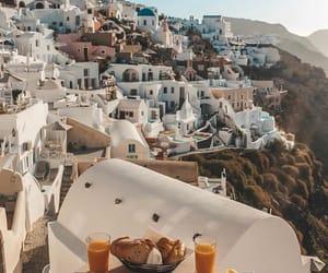 city, Greece, and santorini image