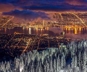 city, light, and vancouver image