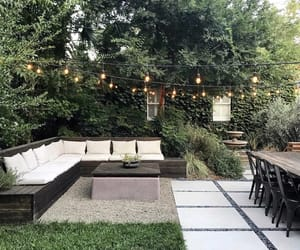 backyard and dinner image