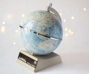 etsy, vintage globe, and home decor radio image