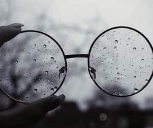 glasses, rain, and photography image
