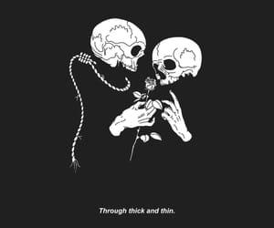 grunge, skull, and art image