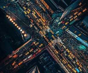 city, lights, and building image